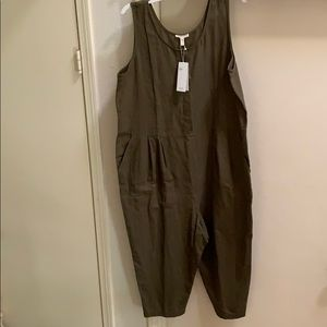 Eileen Fisher cotton jumpsuit large medium NEW NWT